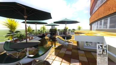 Roof Terrace View 3